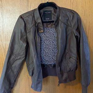 ✨HP✨Dark Brown Leather Jacket